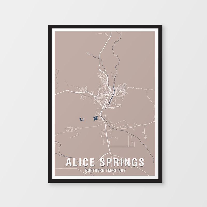 Alice Springs Map Print