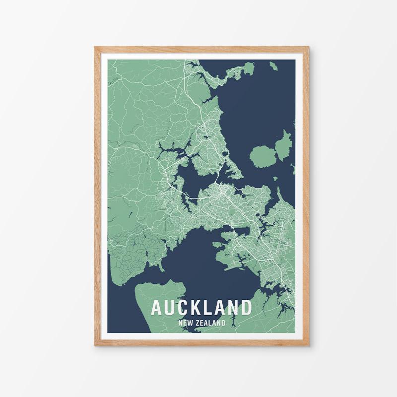 Auckland Map Print