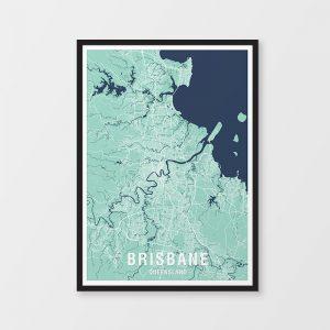 Brisbane Two-Tone Map