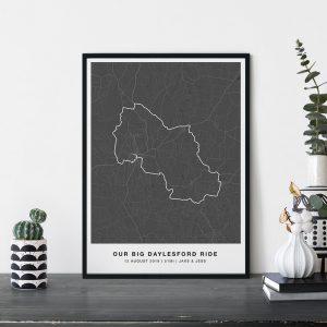 GPS / Strava Map Print
