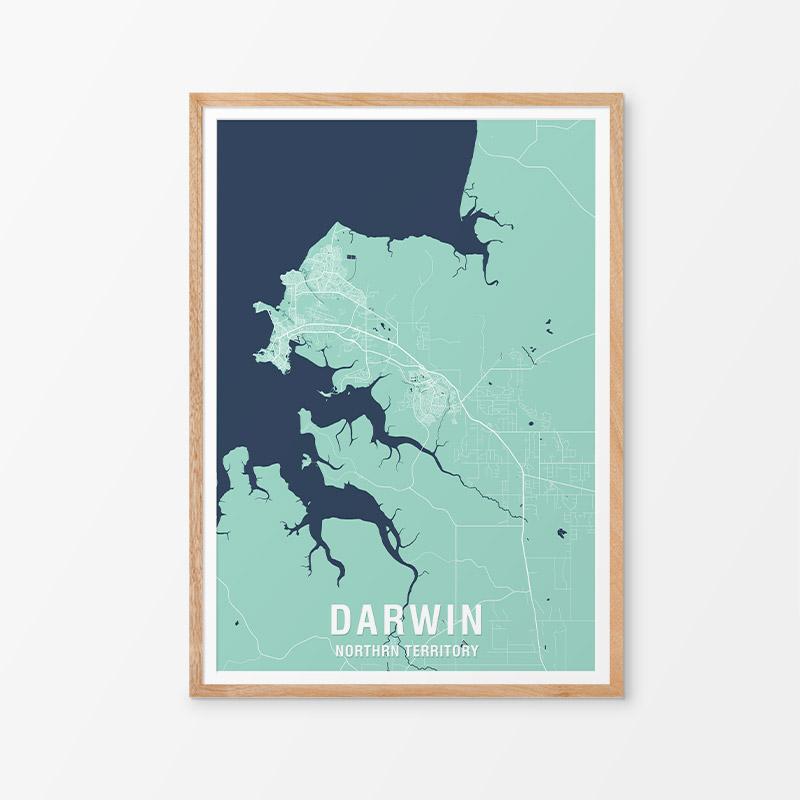 Darwin Map Print
