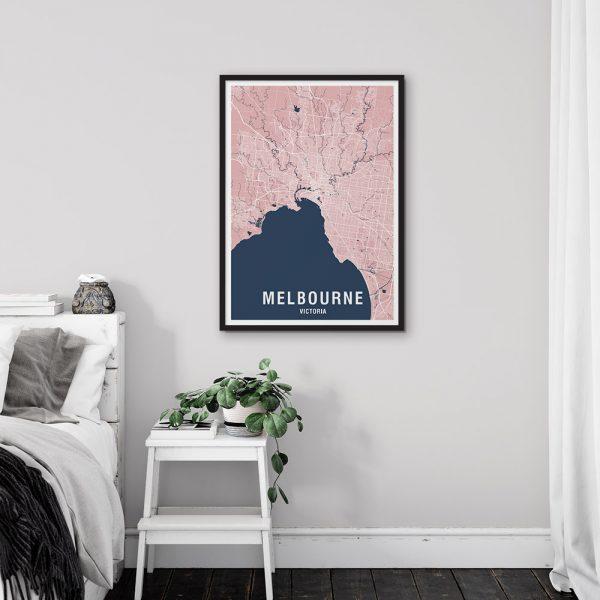 Melbourne Map Print