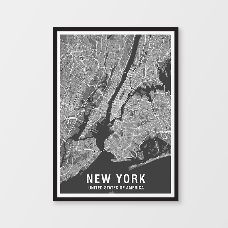 New York Map Print