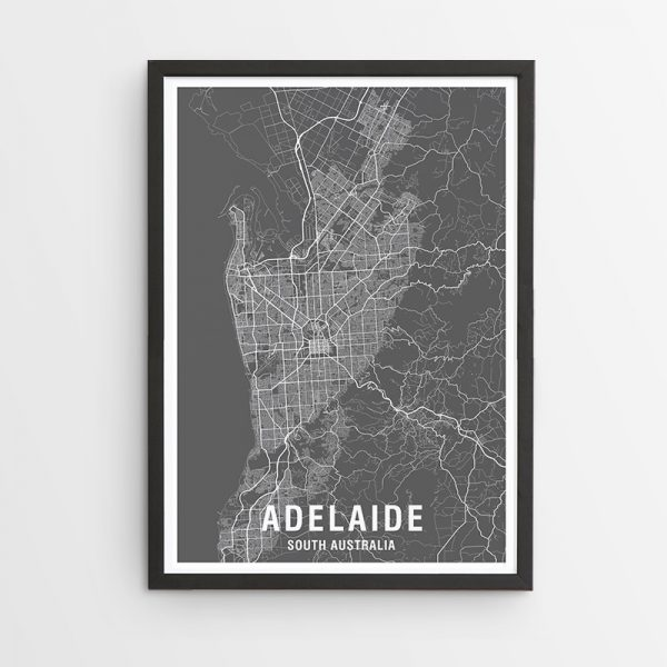 Adelaide Map Print