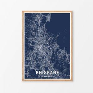 Brisbane Map Print
