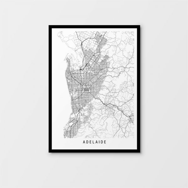 Adelaide Minimalist Map Print