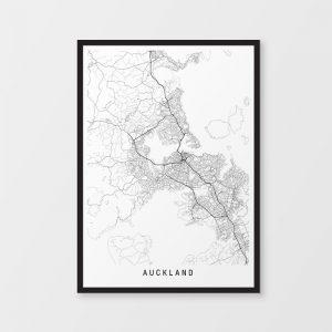 Auckland Minimalist Map Print