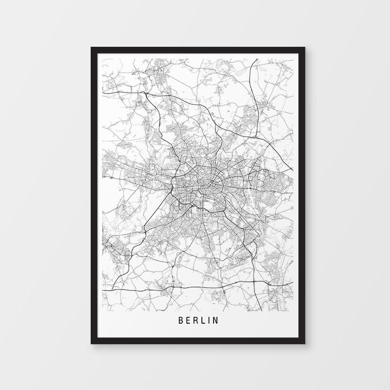 Berlin Minimalist Map Print