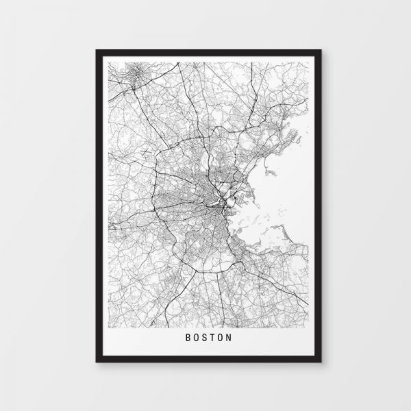 Boston Minimalist Map Print