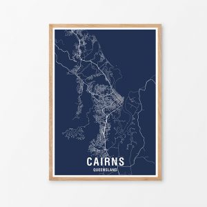 Cairns Area Map Print