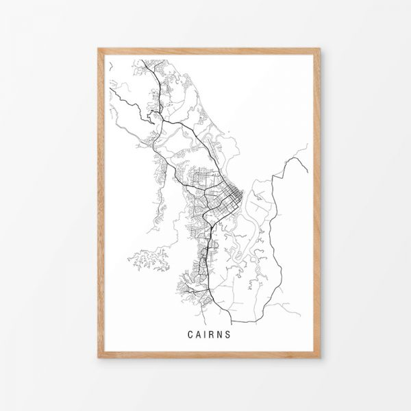 Cairns Minimalist Map Print
