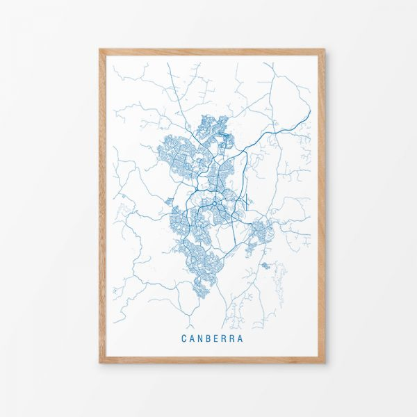 Canberra Map Print
