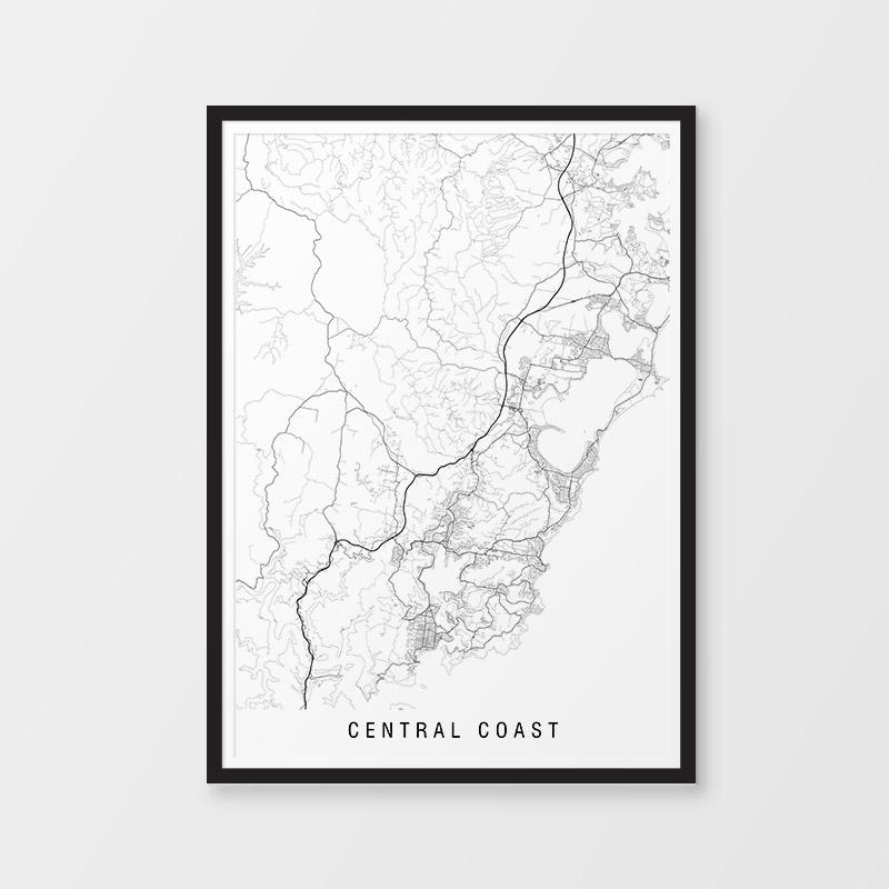 Central Coast Minimalist Map