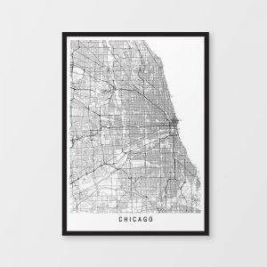 Chicago Minimalist Map Print