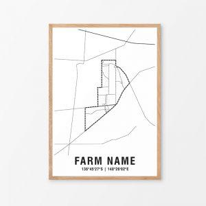 Custom Farm Map Print