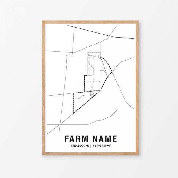 Custom Farm Map Print
