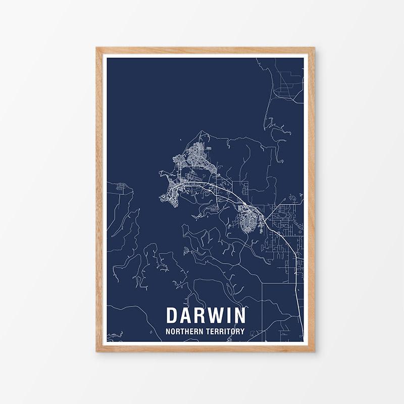 Darwin Area Map Print