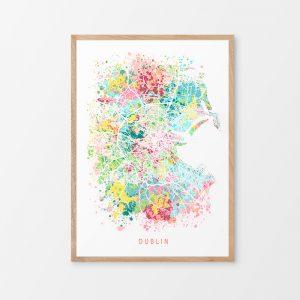 Dublin Abstract Map Print