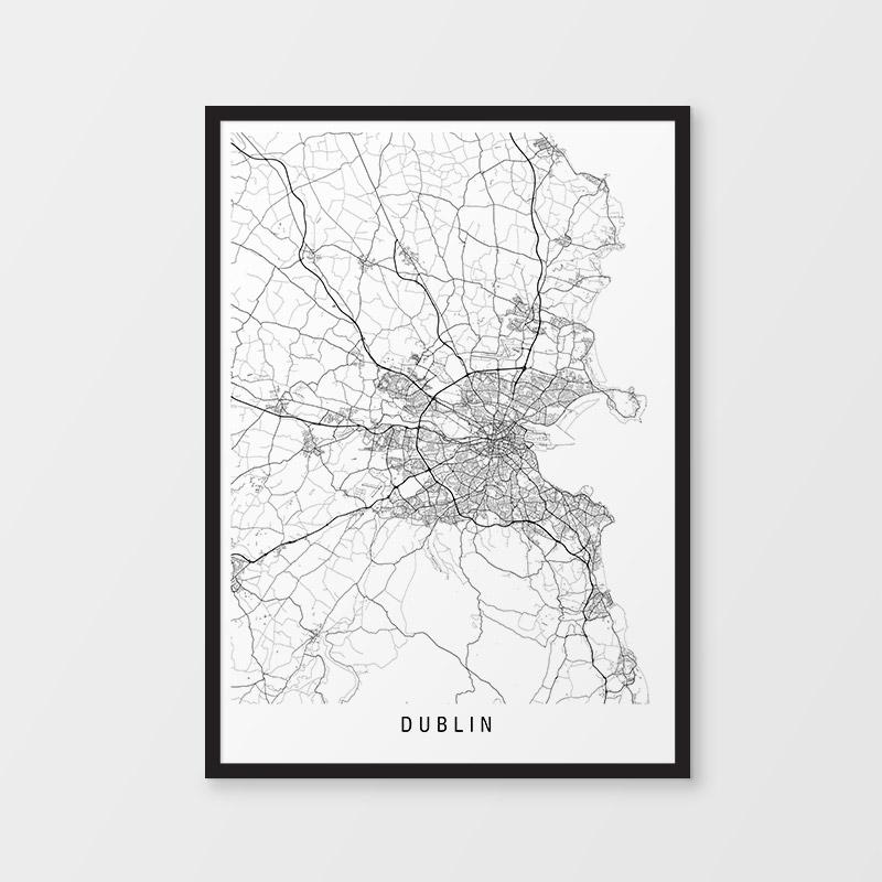 Dublin Minimalist Map Print