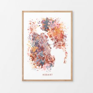 Hobart Abstract Map Print