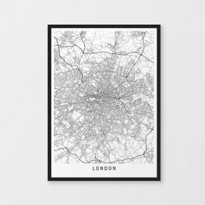 London Minimalist Map Print
