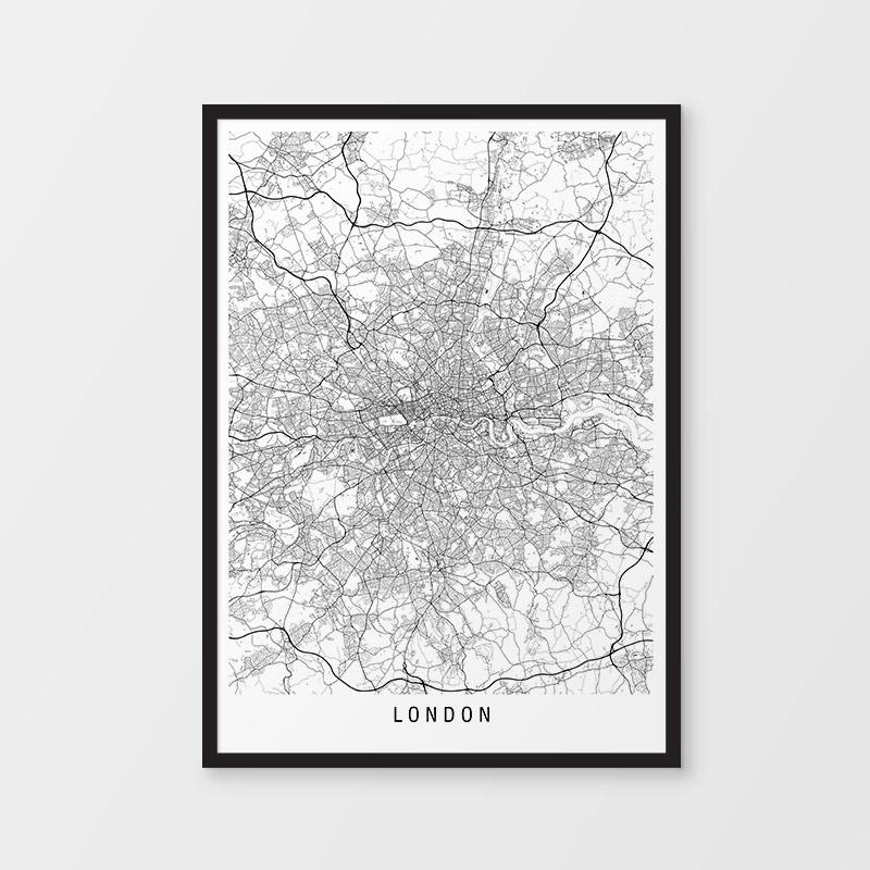 London Minimalist Map Print