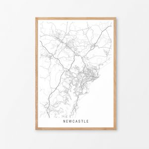 Newcastle Minimalist Map