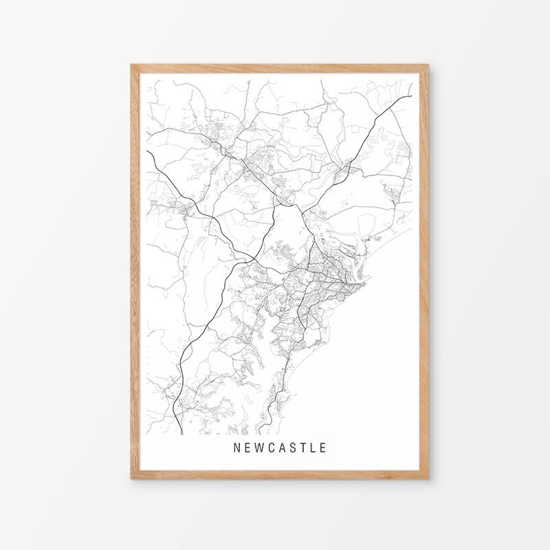 Newcastle Minimalist Map