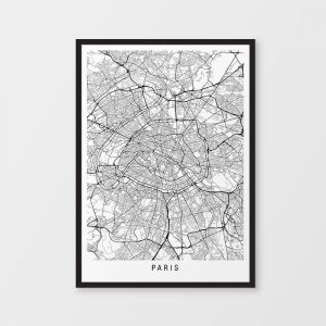 Paris Minimalist Map Print