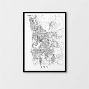 Perth Map Print