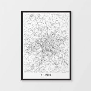 Prague Minimalist Map Print
