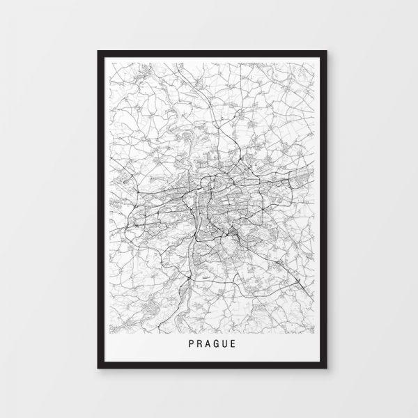 Prague Minimalist Map Print