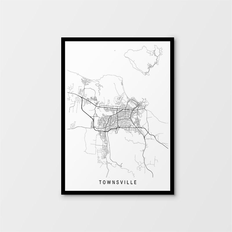 Townsville Minimalist Map
