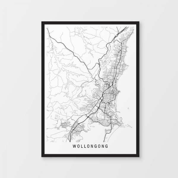 Wollongong Minimalist Map