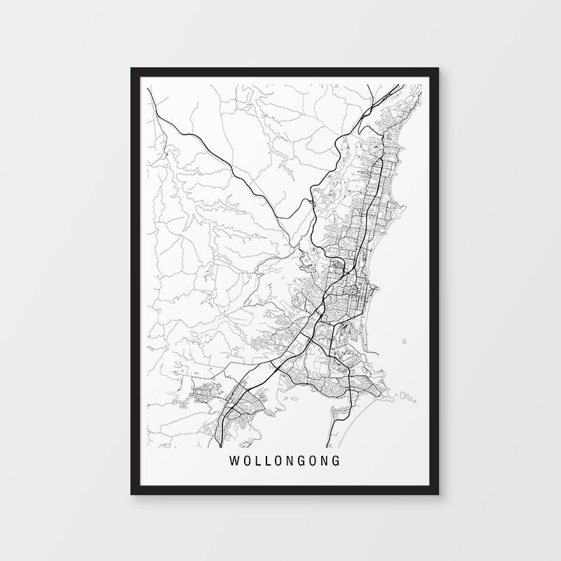Wollongong Minimalist Map