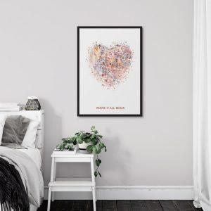 Custom Map Art Prints