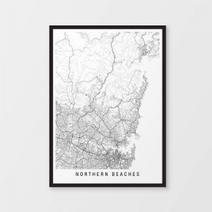 Northern Beaches Minimalist Map
