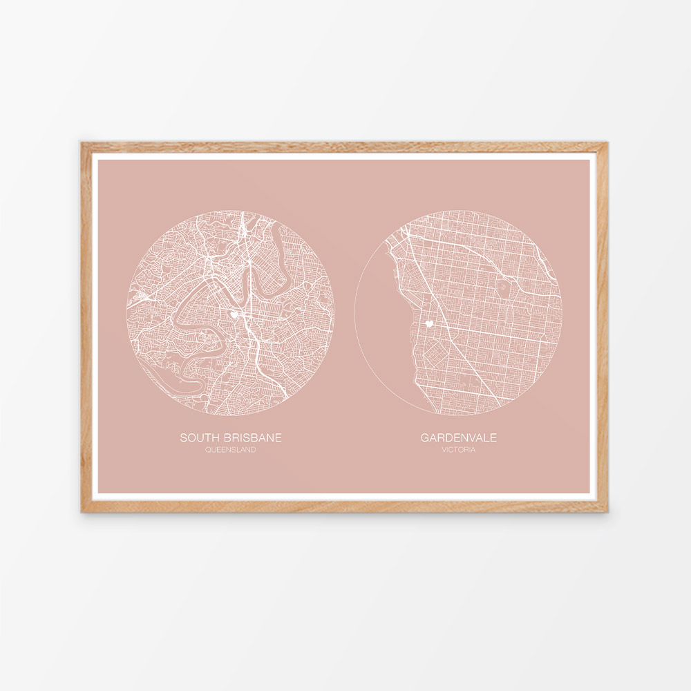 Custom Two Location Map