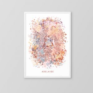 Adelaide Abstract Map Art Print