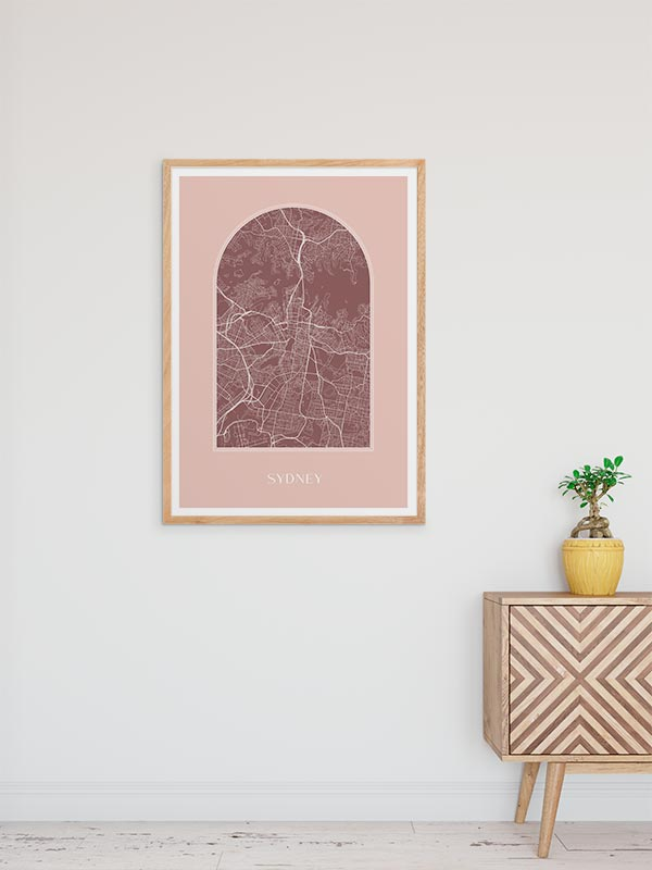 Arch Map Art Print