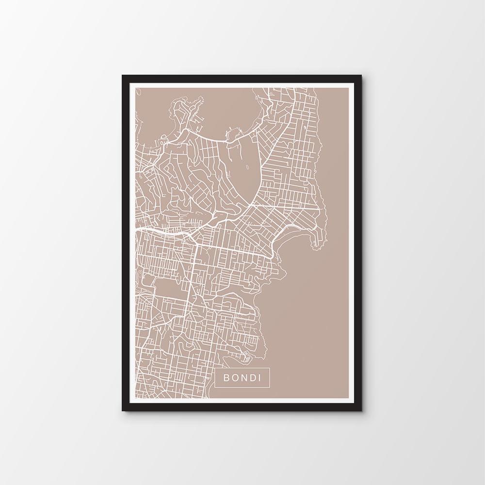 Bondi Map Print