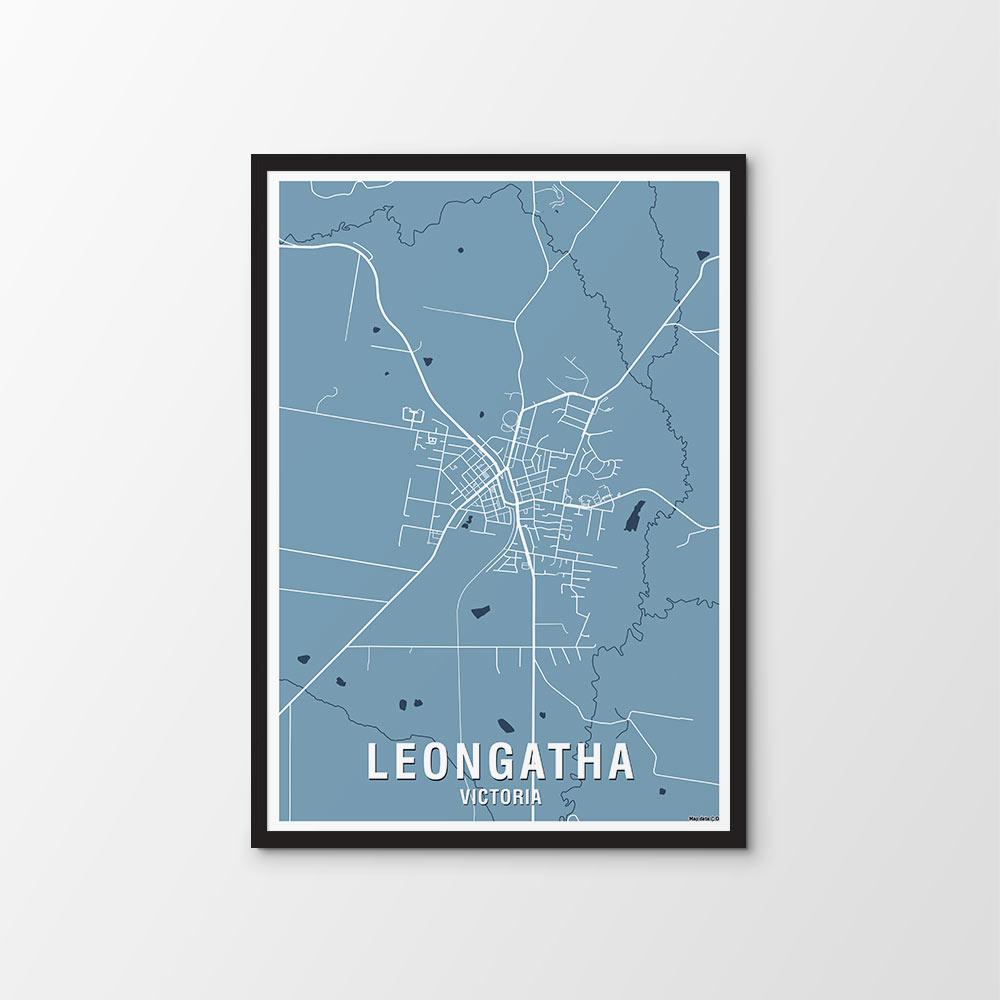Leongatha, Vic Map Print