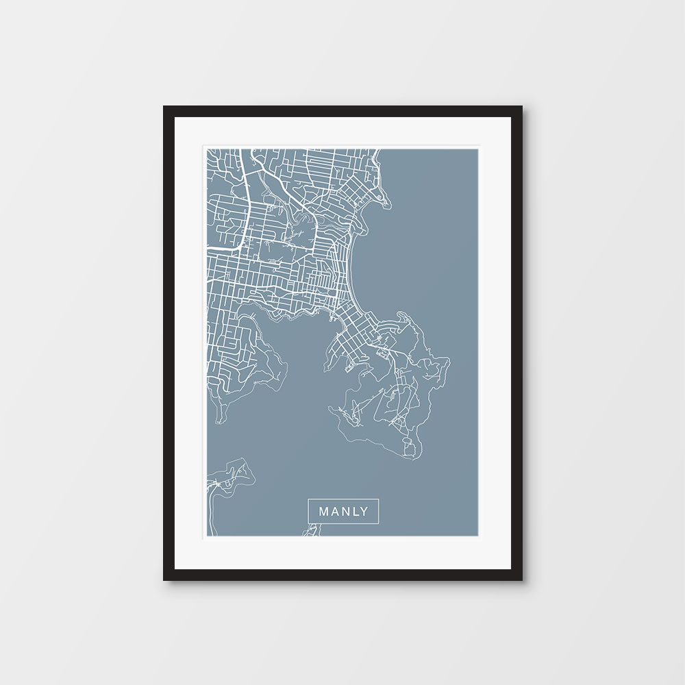 Manly Map print