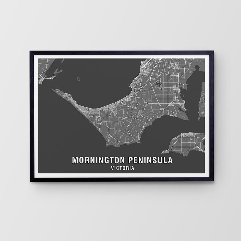 Mornington Peninsula Map Print
