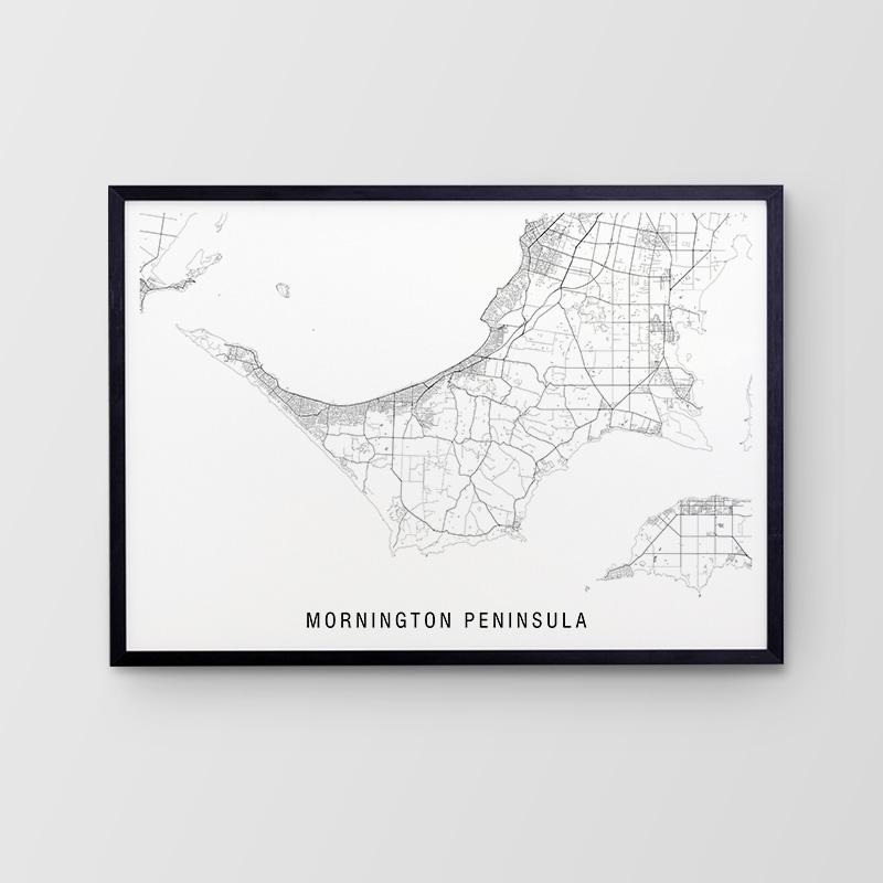 Mornington Peninsula Minimalist Map Print