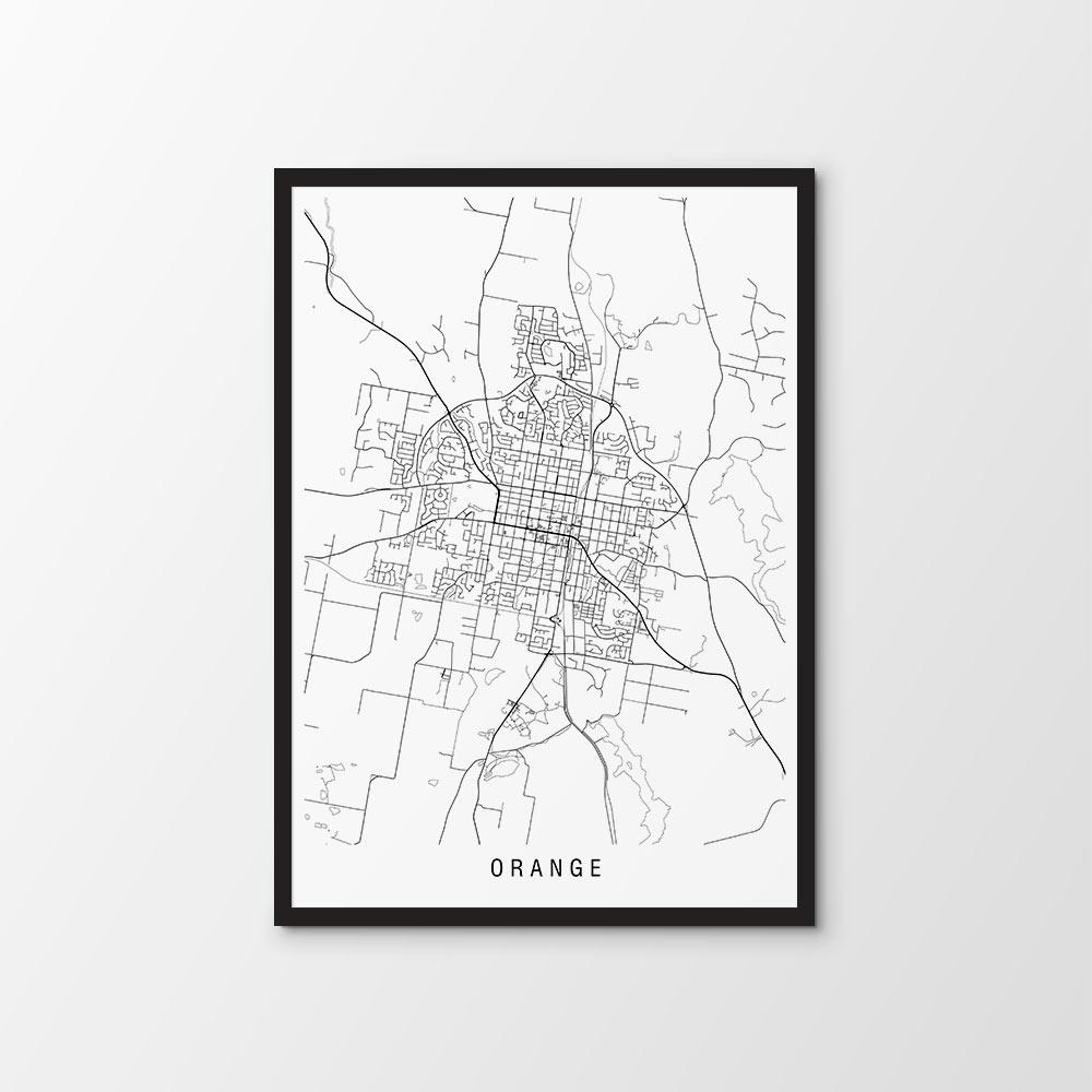 Orange, NSW Map Print