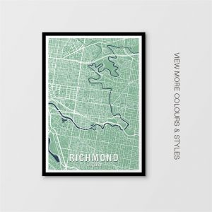 Richmond, Victoria Map Print