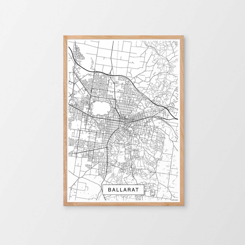 Ballarat, Victoria Map Print