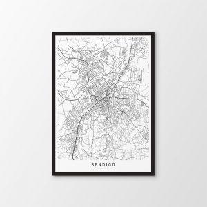 Bendigo, Victoria Map Print