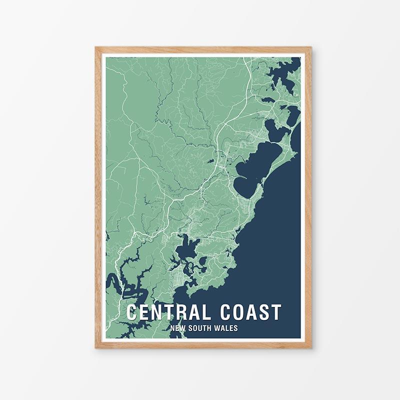 Central Coast Map Prints